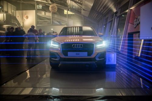 Der Audi Q2 auf der Präsentationsfläche