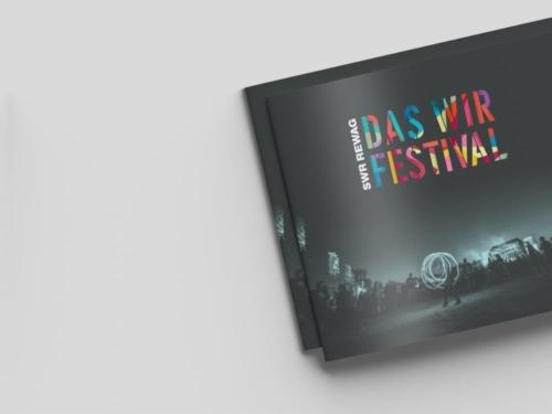 Das finale Design des WIR Festivals von SWR / REWAG